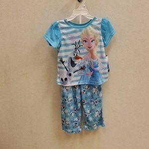 Brand new Frozen little girls pajama set 2T